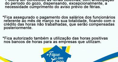 Sindicato dos Comerciários informa acordo coletivo com Sindilojas para o setor do comércio em Juazeiro preservando a saúde neste período de pandemia