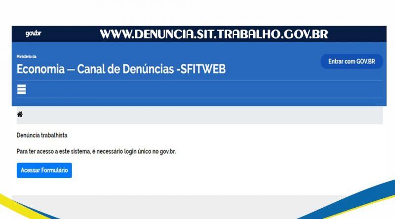 Secretaria de Trabalho Lança Canal Online para denúncias trabalhistas