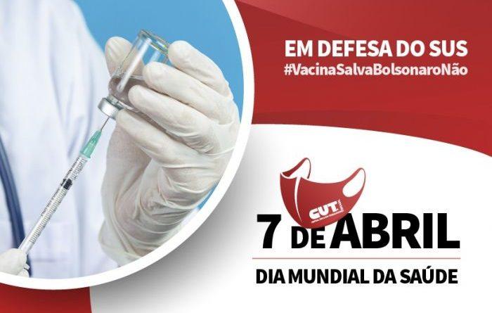 CUT e Frente Brasil Popular se mobilizam em defesa da vacina e do emprego