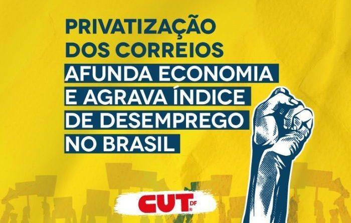 Privatização dos Correios afunda economia e agrava índice de desemprego no Brasil